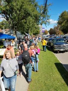 People along Main Street