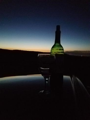 Summer night on top of the mountain